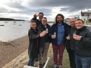 The guys from the French Riviera Whisky Club on a two day tour